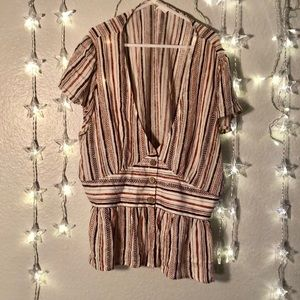 Tribal striped top
